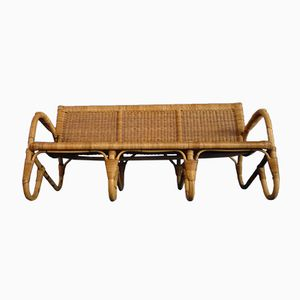 Bamboo Three-Seater Bench from ARCO, 1940s
