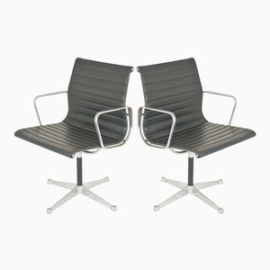 Vintage EA107 Swivel Chairs by Charles & Ray Eames for Vitra, 1970s, Set of 2