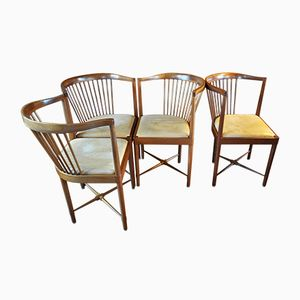 Vintage King of Diamonds Chairs by Børge Mogensen for Søborg Møbelfabrik, Set of 4