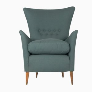 Mid-Century Italian Armchair in Grey, 1950s