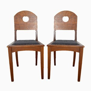 Oak Side Chairs by Richard Riemerschmid for Deutsche Werkstätten Hellerau, 1900s, Set of 2