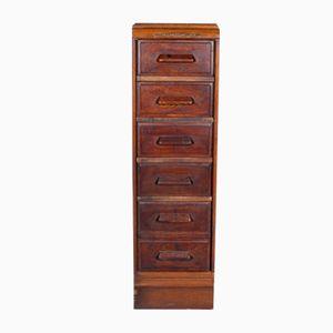 Vintage Oak Filing Cabinet Chest Of Drawers