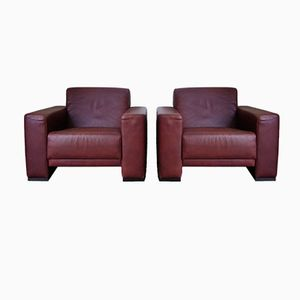 Vintage Leather Club Chairs from Montis, Set of 2