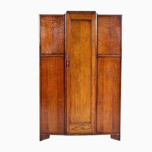 Vintage Arts & Crafts Oak Wardrobe, 1930s