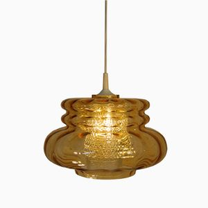 Mid-Century Textured Glass Pendant by Carl Fagerlund for Orrefors