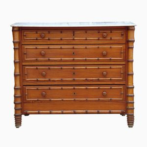 Antiker Schubladenschrank in Bambus Optik