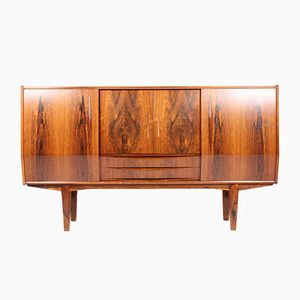 Danish Mid-Century Rosewood Credenza with Mini Bar