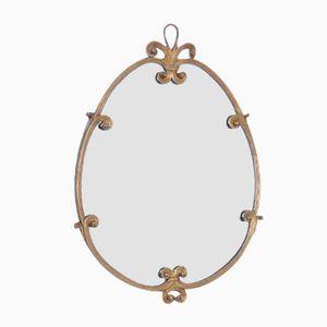 Antique Mirror with Brass Frame, 19th Century