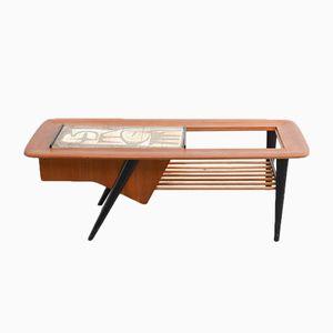 Mid-Century Tisch mit Barfach von Alfred Hendrickx für Belform, 1956