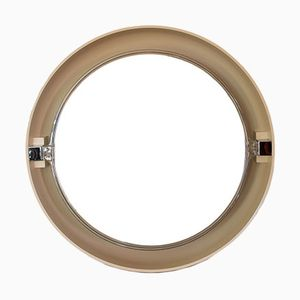 Vintage Round Mirror with Plastic Frame from Allibert, 1970s