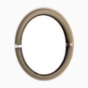 Oval Mirror with Plastic Frame from Allibert, 1970s