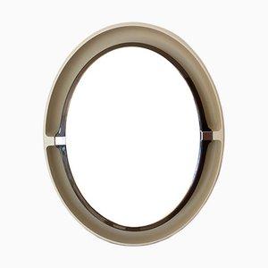 Specchio grande in vetro fum con cornice in metallo - Specchio ovale vintage ...