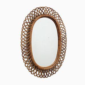 Mid-Century Italian Midollino Mirror