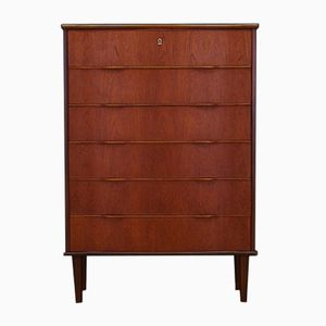 Danish Teak Chest with Wavy Shaped Drawers, 1960s