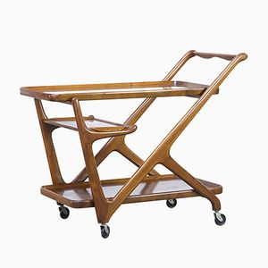 Mahogany Tea Trolley by Cesare Lacca for Cassina, 1950s