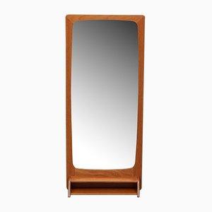 Teak Mirror with Small Shelf, 1950s