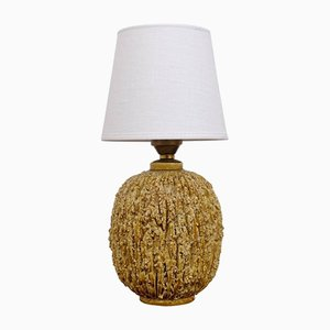 Swedish Chamotte Table Lamp by Gunnar Nylund for Rörstrand, 1950s