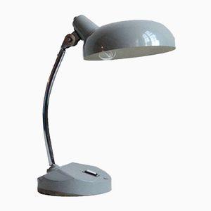 Hellgraue Vintage Schreibtischlampe