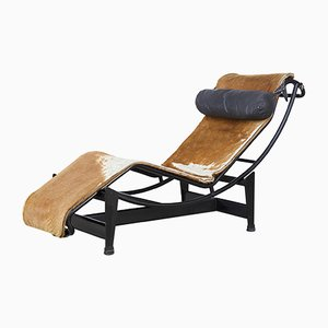 Vintage LC4 7275 Sessel aus Ponyfell von Le Corbusier, Jeanneret & Perriand für Cassina