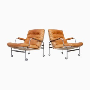 Vintage Model Karin Easy Chairs by Bruno Mathsson, Set of 2