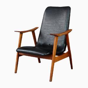 Vintage Dutch High Back Armchair