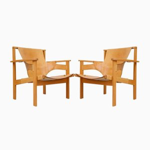 Trienna Easy Chairs by Carl-Axel Acking for Nordiska Kompaniet, 1950s, Set of 2