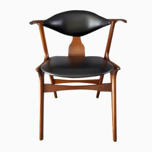 Vintage Cowhorn Chair by Louis Van Teeffelen for AWA Holland