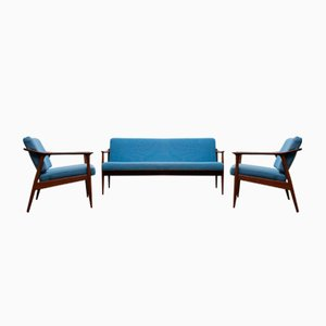 Mid-Century Danish Living Room Set by Torbjørn Afdal for Sandvik Mobler, 1950s