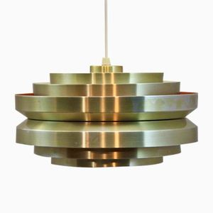 Mid-Century Swedish Brass Pendant Lamp by Carl Thore for Granhaga, 1960s