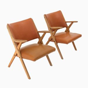 Italian Armchairs from Dal Vera, 1950s, Set of 2