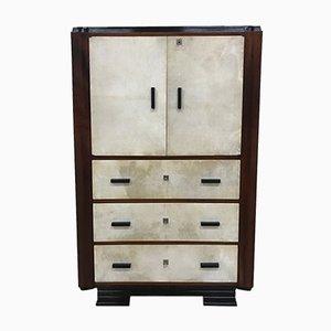 Art Deco Parchment Cabinet, 1930s