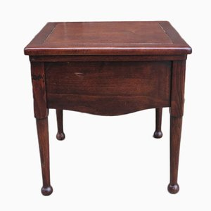 Biedermeier Mahogany Toilet Chair With Recessed Ceramic Top
