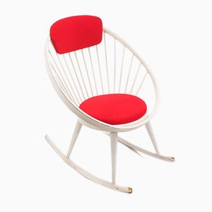 Vintage Circle Rocking Chair by Yngve Ekstrom for AV Arredamenti Contemporanei