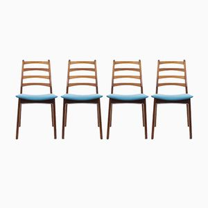 Vintage Norwegian Dining Chairs, Set of 4