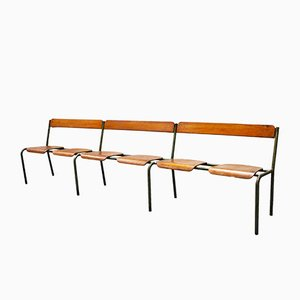 Large French Industrial Bench from Mullca, 1950s