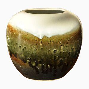Vase Vintage Multicouleur en Céramique avec un Verni Brillant, Danemark