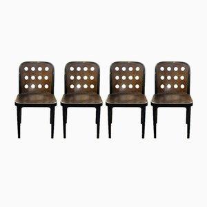 Vintage Stühle von Josef Hoffmann für Thonet Mundus, 4er Set