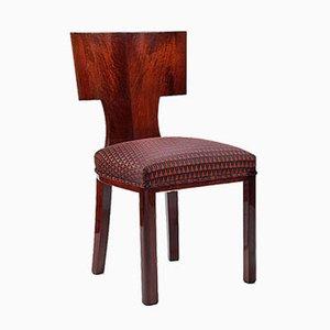 Chaise Vintage Art Déco en Chêne et Noyer