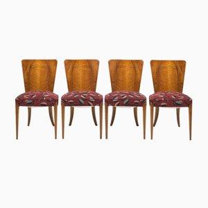 Chaises de Salon Vintage par Jindřich Halabala pour UP Zavody, Set de 4