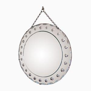Runder Venezianischer Spiegel, 1950er