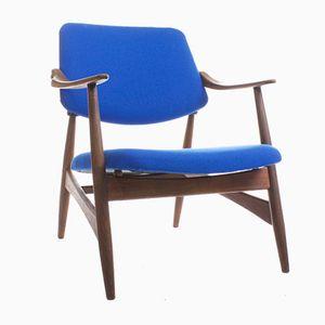 Mid-Century Teak Lounge Chair by Louis van Teeffelen for Webe