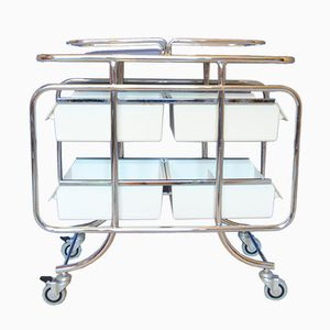 Vintage Industrial Hospital Trolley