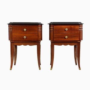 Art Deco Bedside Tables, 1920s, Set of 2