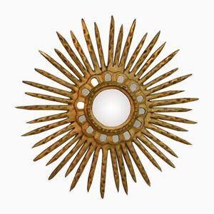 Vintage Gilded Sunburst Mirror, 1950s