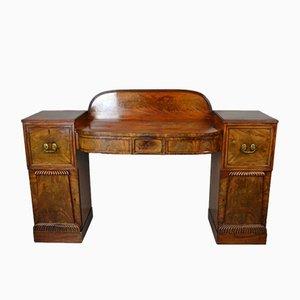 Large Victorian Mahogany Twin Pedestal Sideboard