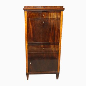 Secretary in Mahogany with Inlaid Fruit Wood, 1810s