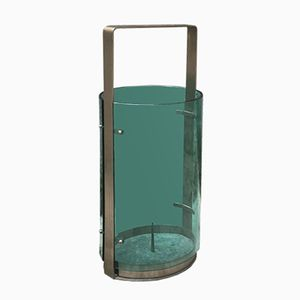 Vintage Umbrella Stand in Metal and Glass by Max Ingrand for Fontana Arte