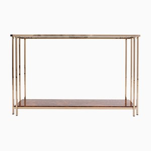 Gold Layered Console Table from M2000, 1980s