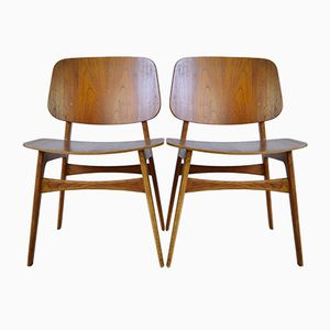 Mid-Century Model 155 Søborg Chairs by Børge Mogensen for Fredericia, Set of 2