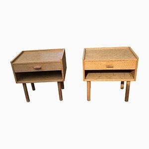 Tables de Chevet Vintage en Chêne par Hans J. Wegner pour Ry Møbler, Set de 2
